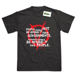 "Discount vendetta shirts - People And Governments Inspired by V For Vendetta Printed T-Shirt ""Short Sleeves Cotton Fashion T Shirt Free Shippi"
