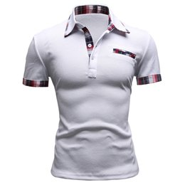 camisa polo slim fit 2019 - Brand Men Polo Shirt Solid Short -Sleeve Slim Fit Polo Mens Embroided Shirt Men Polo Shirts Casual Camisa Polos cheap ca