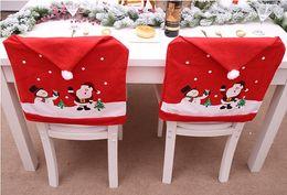 $enCountryForm.capitalKeyWord NZ - New Christmas New Non-woven Chair Set Cartoon Old Man Snowman Stool Set Christmas Hat Home Supplies