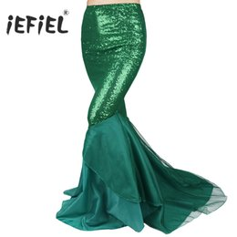 Chinese  omen's Clothing Skirts iEFiEL Elegant Skirts Women Ladies Sequined Mermaid Tail Skirt Photography Costume Vestidos Fancy Maxi Skirt for N... manufacturers