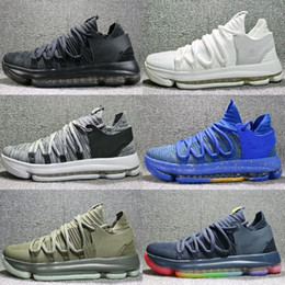 check out cdd73 c9a93 Cheap brand KD 10 Anniversary University Red Still Kd Igloo BETRUE Oreo Men  Basketball Shoes Kevin Durant Elite KD10 Sport Sneakers KDX