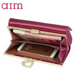 309b7782f098b AIM Große Kapazität Mode Leder Geldbörse für Frauen Marke Trifold Rosa  Clutch Bags Lange Geldbörse Weiblichen Telefon Kartenhalter N041