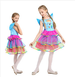 $enCountryForm.capitalKeyWord Canada - Kids Rainbow Unicorn Tutu Dress for Girls Cosplay Prom Costume Children Princess Lace Dresses Wing for Halloween Party