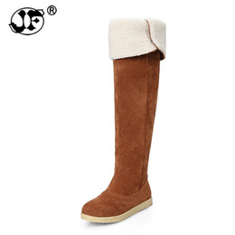 982c6ddf648 Large size 33-42 2018 Winter Boots Warm Fur Shoes fashion Over Knee High  Snow Boots flat heels comfort casual Platform 856uj