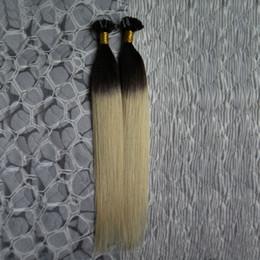 26 fusion hair online shopping - 100 Human G S Ombre T1B Blonde Hair Extensions g U Tip Keratin Hair Extensions Fusion Hair Extensions Capsules