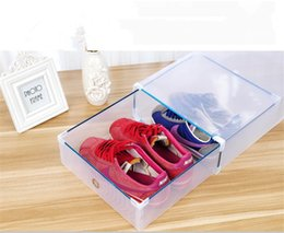 $enCountryForm.capitalKeyWord NZ - 1pcs Eco-Friendly Shoe Storage Box Case Transparent Plastic Storage Box Rectangle Shoe Transparent
