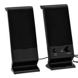 2 unidades portátil USB con conexión de cable Ordenador PC Altavoz Estéreo Bajo Caja de sonido Reproductor de música Mini subwoofer para teléfono inteligente portátil en venta