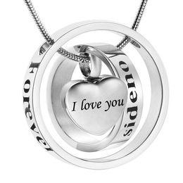 Ash holder online shopping - Cremation Jewelry for Ashes Necklace ash Memorial Keepsake Urn Pendants Holder for women men i love you