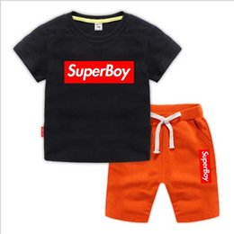 Branded Baby Kids Clothes Australia - Brand Tracksuits 2 KiHOT SELL 2019 New Style Children's Clothing For Boys And Girls Sports Suit Baby Infant Short Sleeve Clothes Kids Set 2