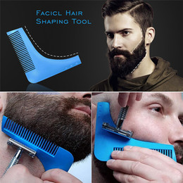shaved hair styles Australia - Best selling comb beardshaping shaving brush sexy men gentleman beard trim template haircut styling trim template beard styling tool sz155