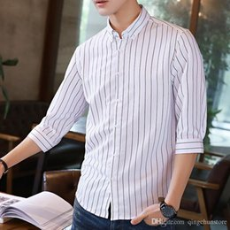 Big Collared Shirts Australia - 2018 New Arrival Brand Men's Summer Business Shirt Short Sleeves Turn-down Collar Tuxedo Shirt Shirt Men Shirts Big Size 5XL