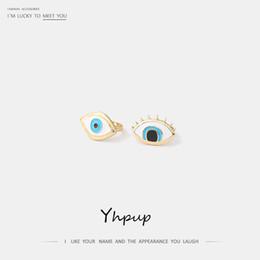 $enCountryForm.capitalKeyWord NZ - Yhpup 2pcs set Trendy Fatima Eye Geometric Zinc Alloy Rings Enamel Gold Charming Rings for women Female Jewelry Accessories 2019
