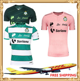 thailand soccer jersey wholesale NZ - DHL Free shipping 2019 2020 Top thailand Quality Club Santos Laguna soccer jersey 19 20 Santos Soccer Jersey Laguna Size can be mixed batch