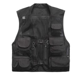 $enCountryForm.capitalKeyWord Australia - Plus Size Multi Pockets Men Summer Mesh Breathable Photography Waistcoat Reporter Director Casual Vest Work Uniform Vt-121 C190420