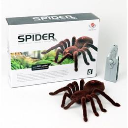 $enCountryForm.capitalKeyWord Australia - 2016 super cute High Quality 2CH Infrared RC Realistic er Spider Prank Remote Control Toy best chrismas gift