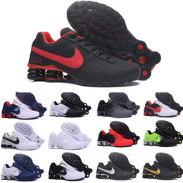 Nz ruNNiNg shoes online shopping - New Shox Deliver Men Running Shoes Muticolor Fashion Women Mens DELIVER OZ NZ Athletic Trainers Sports Sneakers A66