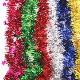 $enCountryForm.capitalKeyWord Australia - 1pcs 2M Christmas Decoration Bar Tops Ribbon Garland Christmas Tree Ornaments Silver Gold Cane Tinsel Wedding Party Supplies