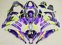 Zx 14 Fairing Purple Australia - New Injection Mold ABS Fairings Kit Fit For Kawasaki Ninja ZX-10R ZX10R 10R 2011 2012 2013 2014 2015 body 11 12 13 14 15 purple 01