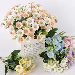 1 PC 32 cm Simulação Daisy Flores De Crisântemo De Seda Artificial DIY Bouquet Flores de Casamento Em Casa Decoração de Festa de Escritório venda por atacado