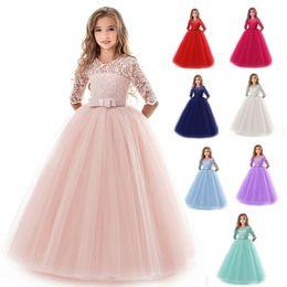 $enCountryForm.capitalKeyWord Australia - Lace Wedding Girls Dress High Quality Summer Kids Dresses For Girls Clothes Princess Toddler Dress Teenagers Evening Dresses