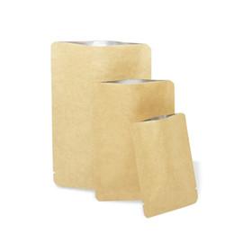 $enCountryForm.capitalKeyWord UK - 4 sizes Brown Open Top Food Vacuum Package Bag Kraft Paper Aluminum Foil Packaging Pouch Coffee Powder Dried Food Storage Bags Heat Sealable