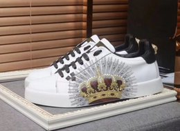Customs Sneakers NZ - High-end custom metal studded spikes casual shoes 2019 new for men and women low top sneakers with soft bottom,genuine leather size:889601