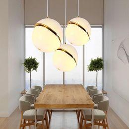 $enCountryForm.capitalKeyWord Australia - Nordic modern D20cm D30cm D40 glass ball bubble led pendant light gold ring kitchen living room restaurant bedroom hanging lamp