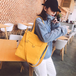 $enCountryForm.capitalKeyWord Australia - Casual Large Capacity Women Female Handbag Canvas Crossbody Shoulder Bags For Girls Teenagers Cheap Shopping Bag Tote