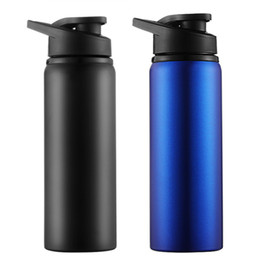 Wholesale 700ML Large Capacity Stainless Steel Bike Water Bottle Outdoor Sport Running Bicycle Kettle Drink Bottle Cycling Water Cups DH1108 T03