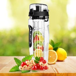 bpa free juice bottles wholesale Australia - 32oz BPA Free Fruit Infuser Water Bottle Juice Shaker Sports Lemon Water Bottle Tour hiking Portable Climbing Camp Bottles DHL FEDEX free