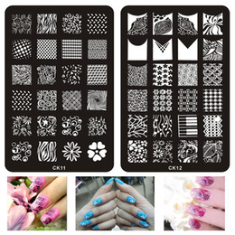 stencil painting designs Australia - 1pcs Nail Designs Lace Stamping Image Plates Stainless Steel Nail Art Template Polish Painting Manicure Stencil Tools