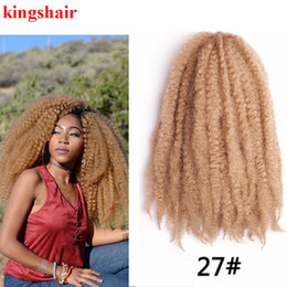 "$enCountryForm.capitalKeyWord Australia - Soft Afro Kinky Natural Kanekalon Marley braiding Extension For Braids 18"" 110g Synthetic Crochet Braids Hair 30Roots Pack"