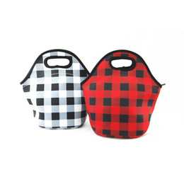 China Neoprene Bento Bag 2 Designs Portable Picnic Carry Case Waterproof Zipper Box Cooler Container Kids School Lunch Bag Pouch 20 Pieces DHL supplier bento tools suppliers