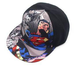 China 2019 Superman Kids snapback cap Hiphop Baseball Caps For Children Flat Anime Mesh Hat casquette femme Boy Girls Hats 50 to 54cm E815 supplier girls superman hat suppliers