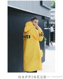 $enCountryForm.capitalKeyWord Australia - Mens Clothing Water Proof Long Length Jacket Yellow Black White High Street Vetements Fashion Hooded Coat