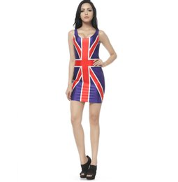 Summer Clothes Uk Australia - UK England British Flag Vest Summer Dress Beach Dresses Clothes Wear Woman Clothing Fashion Sleeveless 3d Digital Print Dress