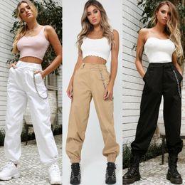 Catena senza pantaloni da donna Camo cargo pantaloni moda militare esercito combattimento camuffamento trasporto di goccia di buona qualità in Offerta