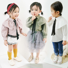 $enCountryForm.capitalKeyWord NZ - 1-3Y 2019 Autumn Fall Chiffon Bow Long Sleeve Blouses Baby Girl Blouse Tops Kids Baby Girls White Shirts Clothes Drop Shipping