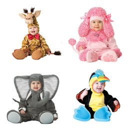 elephant cosplay Australia - Cartoon Baby Infant Elephant Lobster Romper Kids Onesie Suit Animal Cosplay Shapes Costume Child autumn winter Clothing SH190908
