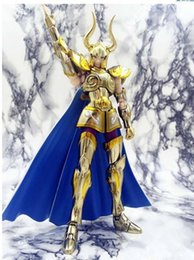 saints figure Australia - Metal Club Metalclub Capricorn Shura Glod Oce Saint Myth Cloth Ex Action Figure Saint Seiya Model Toy Metal Armor Y190604
