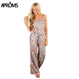 $enCountryForm.capitalKeyWord Australia - Aproms Khaki Boho Sweet Floral Print Jumpsuit Romer Women Sexy Strap Bow Tie Waist Beach Playsuit Overall For Women Clothing Y19051601