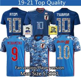 Japonya futbol forması karikatür numarası yazı 10 player sürümü Jersey 18 19 Tayland en kaliteli 2020 2021 futbol eşofman S XXXL