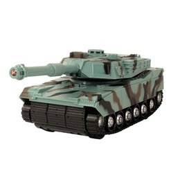 Rotary Battery Australia - Electric model remote control tank package electric 360° manual rotary turret music light toy simulation tank model