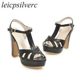 80aaf48783b5b2 Women Sandals Shoe Super High Heel Pu Peep Toe Platform Buckle Summer 2018  New Sex Fashion Casual Wedding Black Beige Pink White