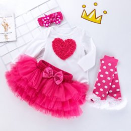 cute girls photo UK - cute Baby Kids clothes Girls Clothing set cotton long sleeve jumpsuits short skirt Toddlers little princess birthday Artistic photo Newborn