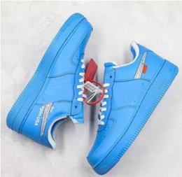 Vente en gros Forcé Low1 07 Virgil MoMA MCA Blanc Noir Rouge Université Bleu Off Skateboard Chaussures Airs Classique 1 Guerrier Sneakers Taille 5.5-11