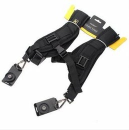 Shoulder Strap Belt For Dslr Camera Australia - Double Dual Camera Shoulder Strap Quick Rapid Sling Camera Belt Adjustment for Canon for 2 Cameras Digital DSLR Strap