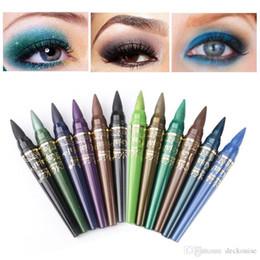 $enCountryForm.capitalKeyWord NZ - MENOW 6Pcs set Waterproof Color Eyeliner Pencils Sets Long Lasting Easy to Wear Pigments Shimmer Eye Liner Pen Cosmetics