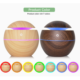 Foot Cooler Australia - Brand New 130ml Ultrasonic Cool Mist Humidifier USB Aroma Essential Oil Diffuser Air Purifier 7 Color Change LED Night Light