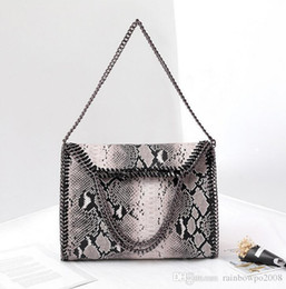 $enCountryForm.capitalKeyWord Australia - wholesale brand handbag and explosion winter snake bag folding single shoulder bag women fashion personality Snake Print Leather Hand Bag